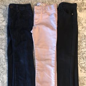 Lot of girls size 7 pants/jeans all from gap